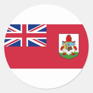 Sticker Rond Drapeau des Bermudes