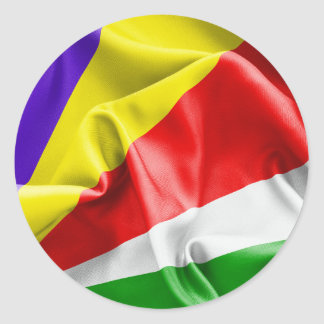 Sticker Rond Drapeau des Seychelles