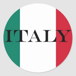 Sticker Rond Drapeau d'Italien de l'Italie Italie