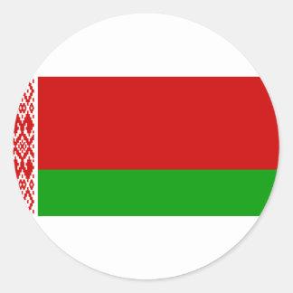 Sticker Rond Drapeau du Belarus