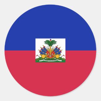 Sticker Rond Drapeau du Haïti