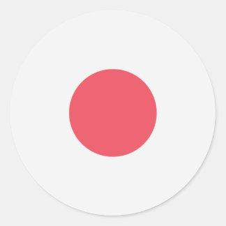 Sticker Rond Drapeau du Japon