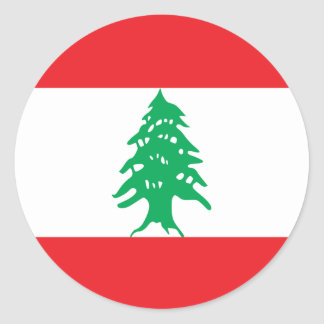 Sticker Rond Drapeau du Liban