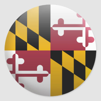 Sticker Rond Drapeau du Maryland