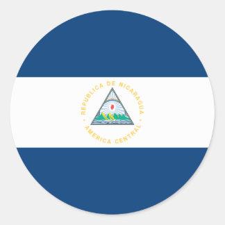 Sticker Rond Drapeau du Nicaragua