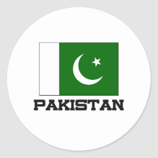 Sticker Rond Drapeau du Pakistan