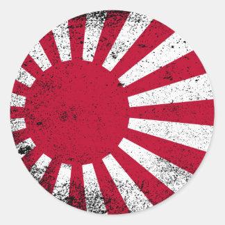 Sticker Rond Drapeau japonais