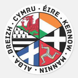 Sticker Rond Drapeaux celtiques de nations