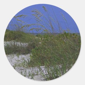 Sticker Rond Dunes