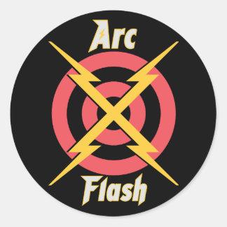 Sticker Rond Éclair d'arc