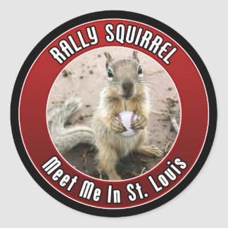 Sticker Rond Écureuil de rassemblement - Louis, Missouri