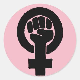 Sticker Rond Égalité des droits pour des femmes