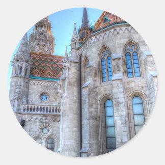 Sticker Rond Église Budapest de Mathias