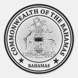 Sticker Rond Emblème rond des Bahamas