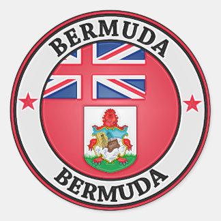 Sticker Rond Emblème rond des Bermudes