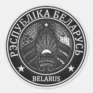 Sticker Rond Emblème rond du Belarus