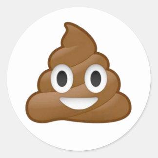 Sticker Rond Emoji de dunette