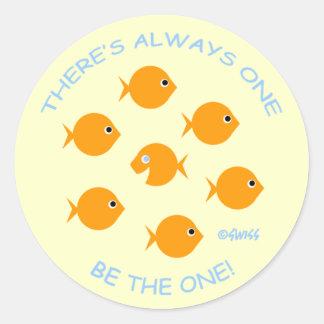 Sticker Rond Encouragement élevé d'accomplisseur de salle de