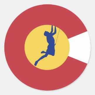 Sticker Rond Escalade du Colorado