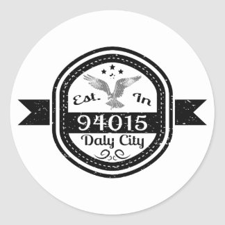 Sticker Rond Établi à 94015 Daly City