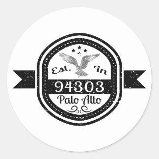Sticker Rond Établi à 94303 Palo Alto