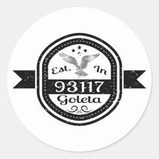 Sticker Rond Établi dans 93117 Goleta