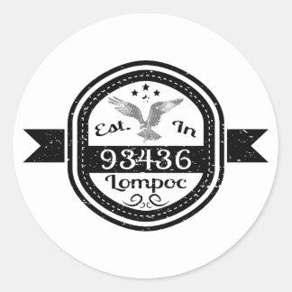 Sticker Rond Établi dans 93436 Lompoc