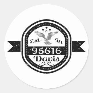 Sticker Rond Établi dans 95616 Davis