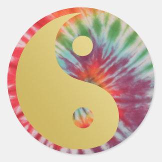 Sticker Rond Été de l'amour Yin et Yang
