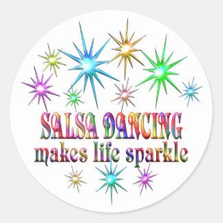 Sticker Rond Étincelles de danse de Salsa