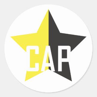 Sticker Rond Étoile d'Anarcho-Capitaliste