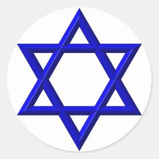 Sticker Rond Étoile de David