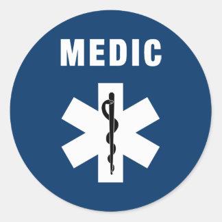 Sticker Rond Étoile de médecin de la vie