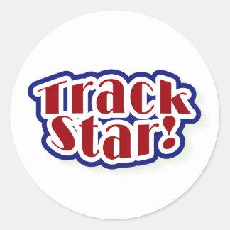 Sticker Rond Étoile de voie