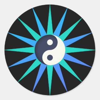 Sticker Rond Étoile de Yin Yang