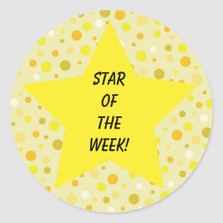 Sticker Rond Étoile du jaune de semaine