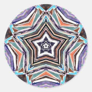 Sticker Rond Étoile spectrale abstraite