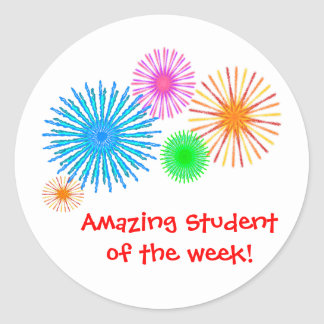 Sticker Rond Étudiant extraordinaire de la semaine !