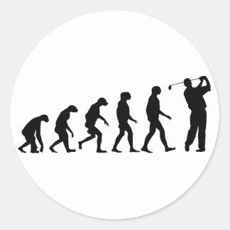 Sticker Rond Évolution du golf