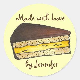Sticker Rond Fait avec l'autocollant de pâtisseries