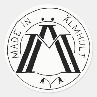 Sticker Rond Fait dans l'autocollant d'Älmhult