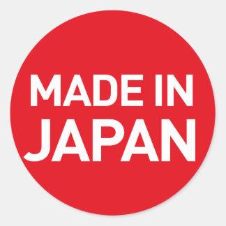 Sticker Rond Fait dans l'autocollant du Japon