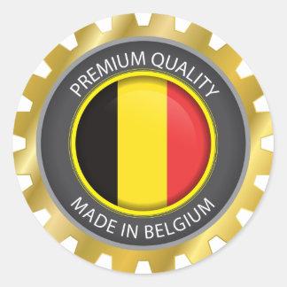 Sticker Rond Fait dans le drapeau de la Belgique, le Belge