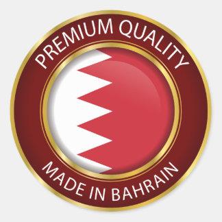 Sticker Rond Fait dans le drapeau du Bahrain, joint bahreinite