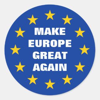 Sticker Rond Faites à l'Europe les grands encore euro