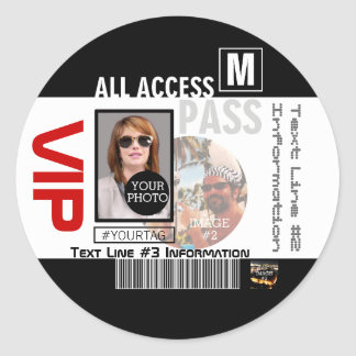 Sticker Rond Faites à votre propre passage de VIP 8 manières de