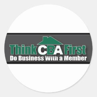 Sticker Rond Faites les affaires avec un membre