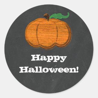Sticker Rond Faveur orange de Halloween de tableau de