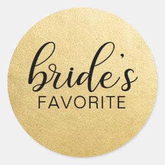Sticker Rond Faveurs PRÉFÉRÉES de cadeau de mariage de la JEUNE