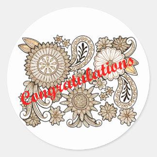 Sticker Rond Félicitations
